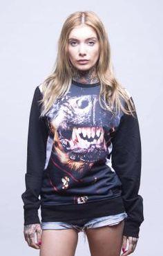 Thug Life Dog Sweatshirt, Ladies
