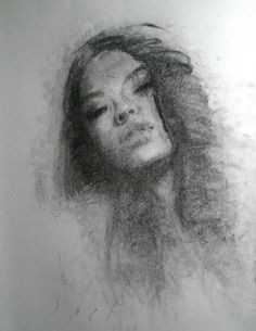 Instant bliss Asian girl female charcoal portrait on Canford paper, painting by artist Daniel Peci Charcoal Portraits, Blurred Lines, Daily Painters, Digital Portrait, Art For Sale, Asian Girl, Original Paintings, Art Gallery, Artistic Portrait