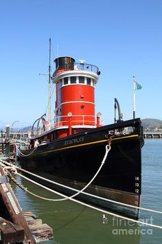 The Hercules . A 1907 Steam Tug Boat At The Hyde Street Pier In San Francisco California .