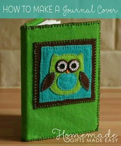 Learn how to make a journal cover out of felt with our step-by-step photo tutorial. Simple to put together and so versatile.) homemade gift idea for Christmas and birthdays. Homemade Gifts For Boyfriend, Homemade Mothers Day Gifts, Boyfriend Gifts, Felt Diy, Felt Crafts, Handmade Felt, Diy Crafts, Necklace With Kids Names, Homemade Birthday Gifts