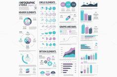 Huge Infographic Vector Elements Set - Illustrations - 1