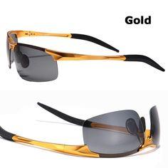 90fc02a127 Hot Sale men s aluminum-magnesium car drivers night vision goggles  anti-glare polarizer sunglasses