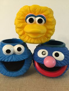 A personal favorite from my Etsy shop https://www.etsy.com/listing/248519282/sesame-street-character-mugs-set-of-3