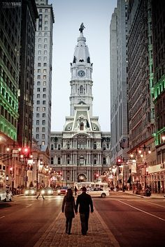 in the middle of the city, Philadelphia