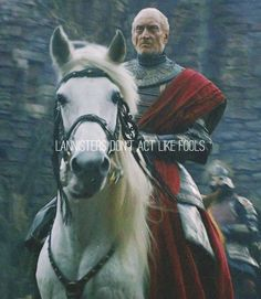 Tywin Lannister. One of the best casting choices in the show. Captures the character in the novels perfectly.