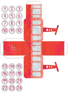 Calendrier de l'avent Calendrier de l'avent Christmas Card Crafts, Rustic Christmas, Christmas Time, Xmas, Christmas Decor, Diy Advent Calendar, Countdown Calendar, Crafts For Kids, Diy Crafts