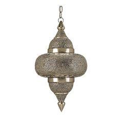 Pierced Metal Hanging Pendant
