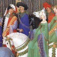 Month of May, detail, 1413-83, Limbourg Brothers