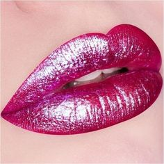 Greatly improve ones pout by using hydrating and long lasting lip gloss that can safeguard, moisturize, define, and highlight ones own lips Blue Lipstick, Lipstick Art, Lip Art, Lipstick Colors, Lip Colors, Metallic Lipstick, Hot Pink Lips, Orange Lips, Nice Lips