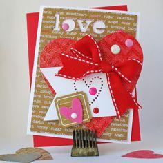 #papercraft #valentines #card:  Love - Doodlebug - Scrapbook.com