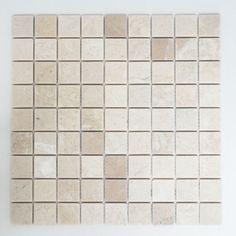 Details Zu Fliesen Mosaik Mosaikfliesen Marmor Quadrat Boden Bad Küche  Beige 8mm NEU #311