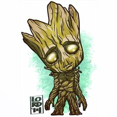 Guardians of the Galaxy!! Groot!!! ✏️✏️✏️✏️ #lord_mesa #lordmesaart #artwork #illustrator #illustration #vectorart #mangastudioex5 #marvel #groot #vindeisel #guardiansofthegalaxy #igers #kids #fun #funny #chibi #superheroes