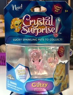 Cra-Z-Art Crystal Surprise GLITZY Lucky Sparkling Pet Mystery Charm     #CraZart