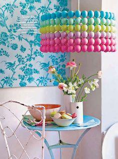 DIY LAMPS FOR KIDS - Ping Pong ball pendant light