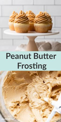 Thispeanut butter frosting recipe from Live Well Bake Often is incredibly easy to make and tastes delicious too. This simple frosting is perfect for chocolate cakes, cupcakes, brownies, and so much more! Peanut Butter Frosting Easy, Peanut Butter Dessert Recipes, Chocolate Frosting Recipes, Peanut Butter Sauce, Homemade Frosting, Homemade Peanut Butter, Homemade Desserts, Cupcake Recipes, Chocolate Cakes