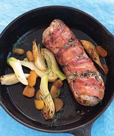 Bacon-Wrapped Pork Tenderloin   RealSimple.com