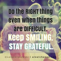 Staying grateful