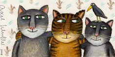 Axel Scheffler :: illustrations for Old Possum's Book of Practical Cats by TS Eliot Frida Art, Cat Colors, Cat Crafts, Moon Art, Cat Drawing, Axel Scheffler, Cat Art, Art Pictures, Cute Cats