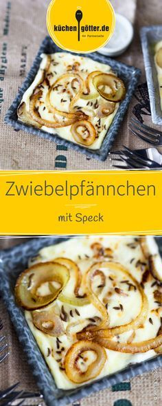 Zwiebelpfännchen mit Speck Im Winter beginnt das Raclette! Onion pan with bacon Raclette starts in winter! You have to try this onion pan with bacon! Appetizer Dips, Appetizers For Party, Baked Zucchini Fritters, Easy Dinner Recipes, Easy Meals, Lard, Pumpkin Dessert, Camping Meals, Cooking Time