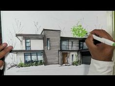 Interesting Find A Career In Architecture Ideas. Admirable Find A Career In Architecture Ideas. House Design Drawing, House Drawing, Rendered Houses, Plan Sketch, Architect Drawing, Archi Design, House Sketch, Interior Sketch, Modern Architecture
