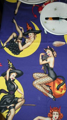 Pin Up Witches Fabric
