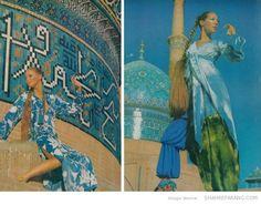 Vogue in Iran, December 1969. Images via Shahre Farang