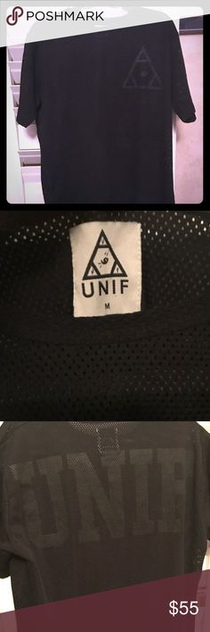Men's Medium UNIF Mesh/Jersey Shirt Preowned, great condition. Haven't seen many of these around so open to offers. UNIF Shirts Tees - Short Sleeve