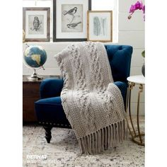 Free Intermediate Crochet Blanket Pattern