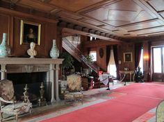 Straatsburgh Mills Mansion, Straatsburgh NY. Entrance hall. Designed in 1895 by McKim, Mead and White.