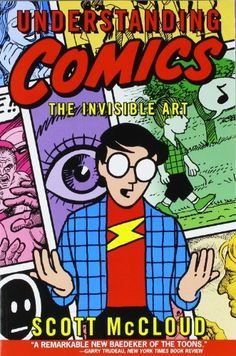 Understanding Comics: The Invisible Art by Scott McCloud http://www.amazon.com/dp/006097625X/ref=cm_sw_r_pi_dp_5ML.ub1SPJ8ZM