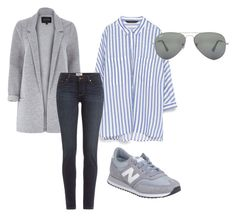 """Beauty"" by luckalucia on Polyvore featuring beauty, Zara, River Island, Paige Denim, New Balance and Ray-Ban"
