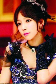 Taeyeon - I love her with natural dark hair