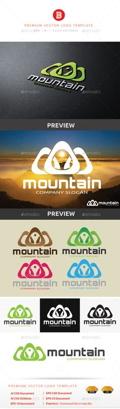 Mountain V.6 - Logo Design Template Vector #logotype Download it here: http://graphicriver.net/item/mountain-v6/10281567?s_rank=1298?ref=nexion