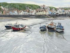 Alistair Butt: Staithes in Bright Sunlight