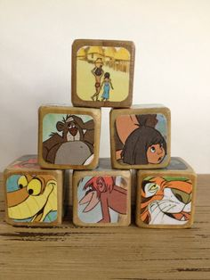 The Jungle Book // Childrens Book Blocks // by StorybookBlocks, $26.00