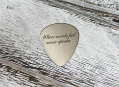 Engraved guitar pick by Oxee custom names gift for him personalized guitar picks