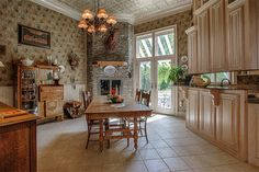 Kitchen and dining area of luxury home