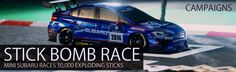 "Read more: https://www.luerzersarchive.com/en/features/campaigns/subaru-vs-stick-bomb-550.html SUBARU VS STICK BOMB A remote-controlled Subaru races against an unravelling 30,000-strong 'stick bomb'. The brand's two-minute spot, ""WRX STI vs. StickBomb"" is packed with dramatic visuals of the miniature car drifting around curves and jumping over ramps while the wooden sticks fly into the air all around.   The two minute spot for an RC Subaru, inspired by Ken Block's Gymkhana series, features a…"
