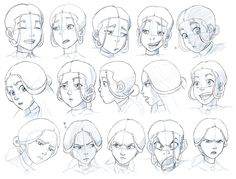 Avatar The Last Airbender Katara Expressions...not as great as Zuko's, but she's still an EPIC player in ATLA