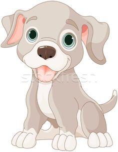 Cute puppy - ilustração de vetor por Anna Velichkovsky (Dazdraperma) - Stockfresh #5333451
