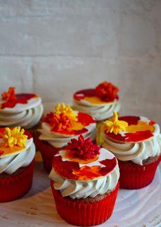 autumn leaves cupcake topper tutorial   Cake Tutorial   Cupcake Tutorial   Erin Bakes
