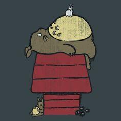Totoro al estilo Snoopy.