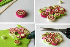 A DIY Felt stripes Coaster