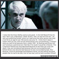 Draco Malfoy is so misunderstood.