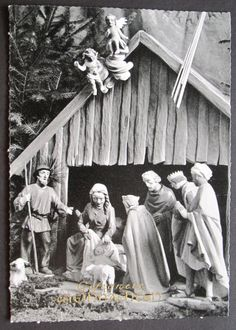 German Christmas Nativity Scene Vintage by SandrasCornerStore, $9.85