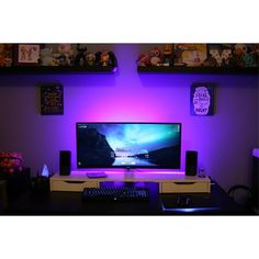 """2,227 Likes, 11 Comments - Mal - PC Builds and Setups (@pcgaminghub) on Instagram: """"A clean ultrawide setup. That ambient light is just perfect. By Redditor shefeltasenseoffear. - -…"""""""