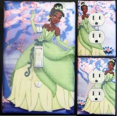 Details About Princess And The Frog Custom Light Switch Wall Plate Covers Kids Room Decor 1