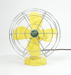 Wow. I love this. Vintage Electric Fan Yellow by ohiopicker on Etsy