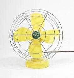 Vintage Electric Fan Yellow by ohiopicker on Etsy, $98.00