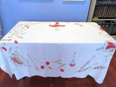 barbecue vintage tablecloth - Google Search Bar B Q, Vintage Tablecloths, Barbecue, Toy Chest, Storage Chest, Google Search, Toys, Furniture, Home Decor
